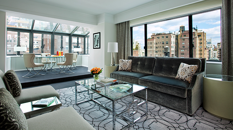 loews regency new york hotel terrace suite living room