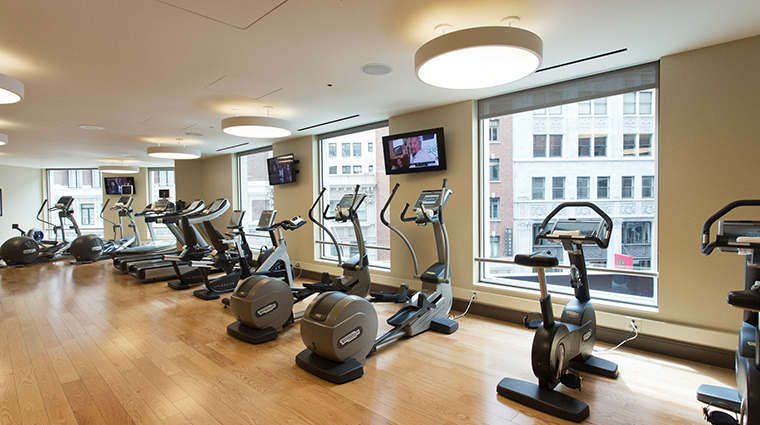 loews regency san francisco hotel fitness center