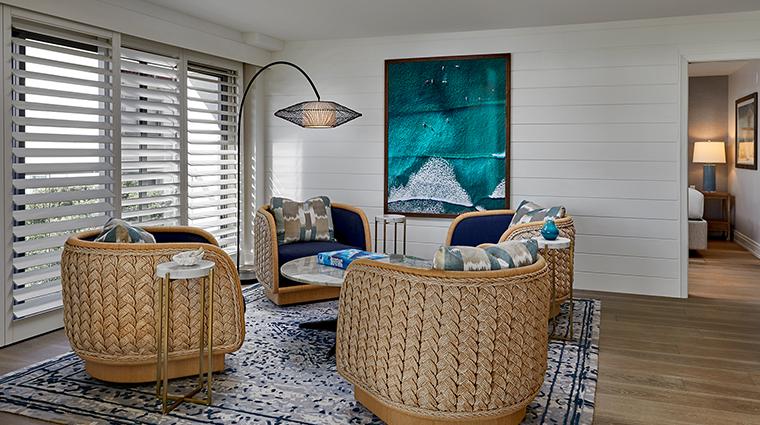 loews santa monica beach hotel boho suite living room
