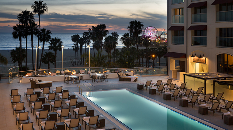 loews santa monica beach hotel pool