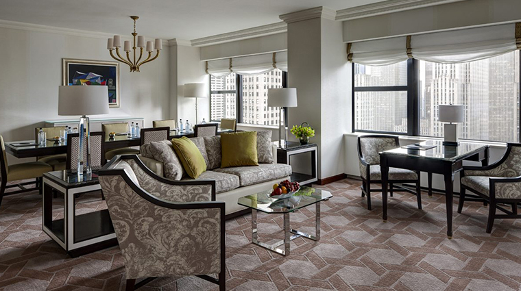 lotte new york palace deluxe corner suite living room