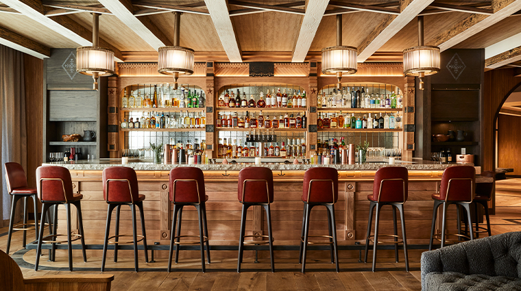 madeline hotel and residences auberge resorts collection timber room bar