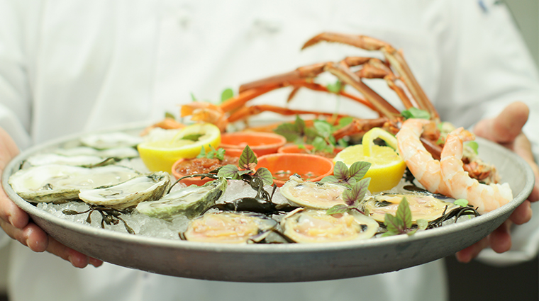 malliouhana auberge resorts collection seafood platter