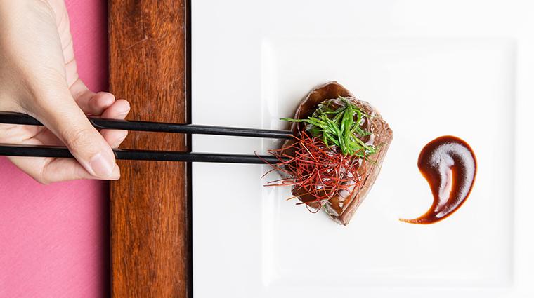 Man Wah Restaurant Wok Fried Wagyu Beef Green Peppercorn Sauce