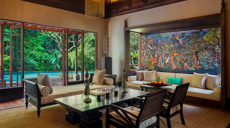 mandapa a ritz carlton reserve two bedroom villa living room