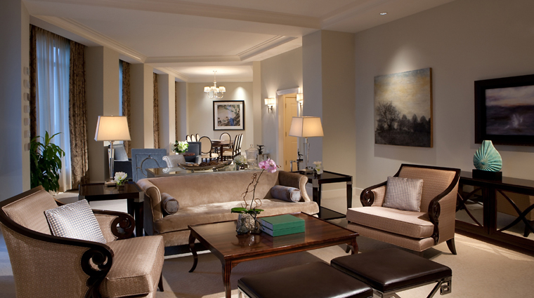 mandarin oriental atlanta presidential suite living room