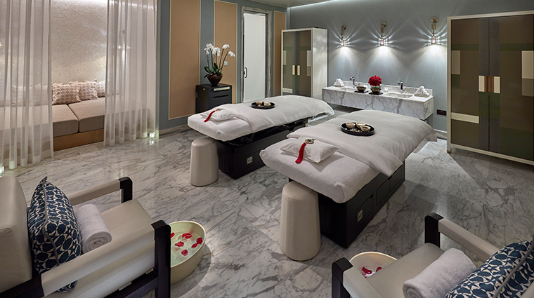 mandarin oriental doha spa double treatment room