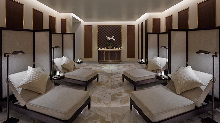 mandarin oriental doha spa male relaxation lounge