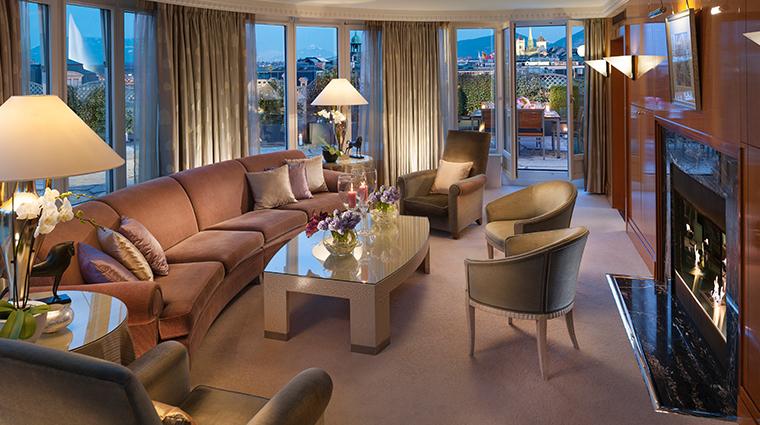 mandarin oriental geneva Presidential suite living room