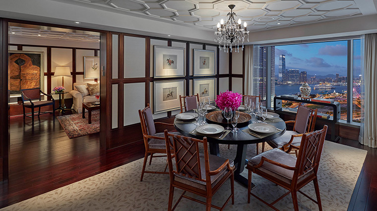 Mandarin Oriental Hong Kong Hotel Suite Macau Dining Room