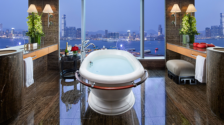 mandarin oriental hong kong harbour view bathroom