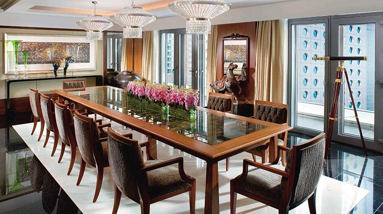mandarin oriental hong kong presidential suite dining room