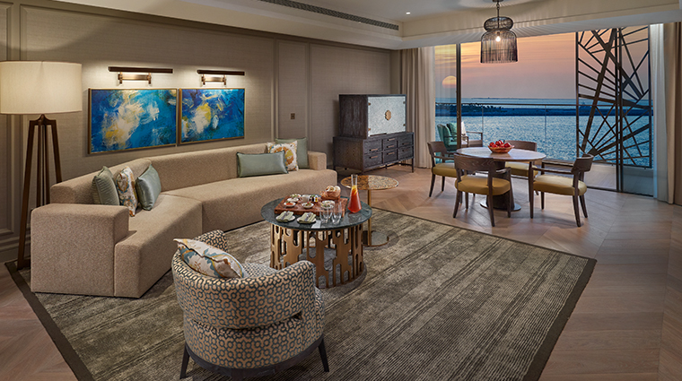 mandarin oriental jumeria beach dubai premier sea view living room