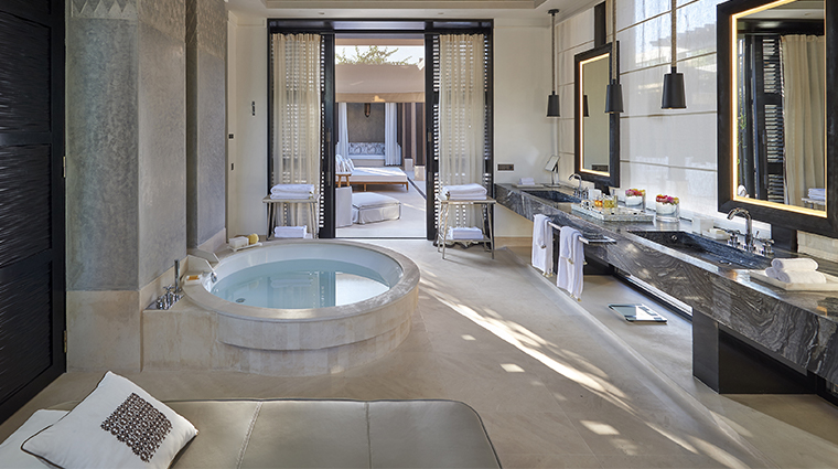 mandarin oriental marrakech pool bathroom
