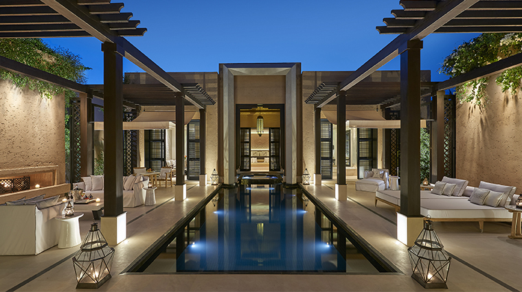 mandarin oriental marrakech pool terrace
