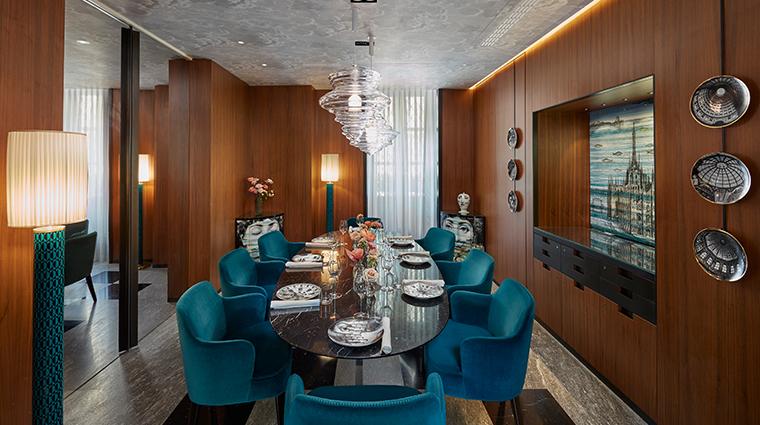mandarin oriental milan  Duomo priviate dining room new