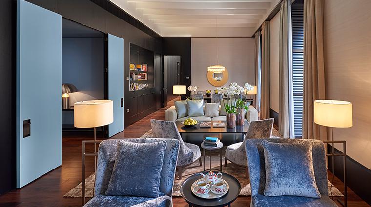 mandarin oriental milan presidential suite living room
