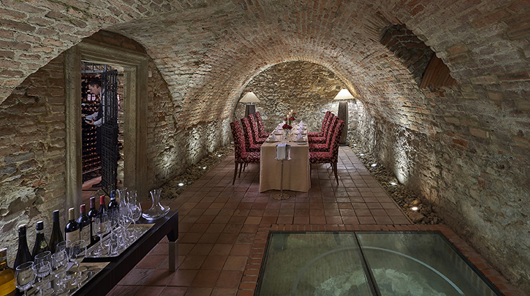 mandarin oriental prague wine cellar