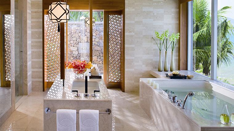 mandarin oriental sanya villa bathroom