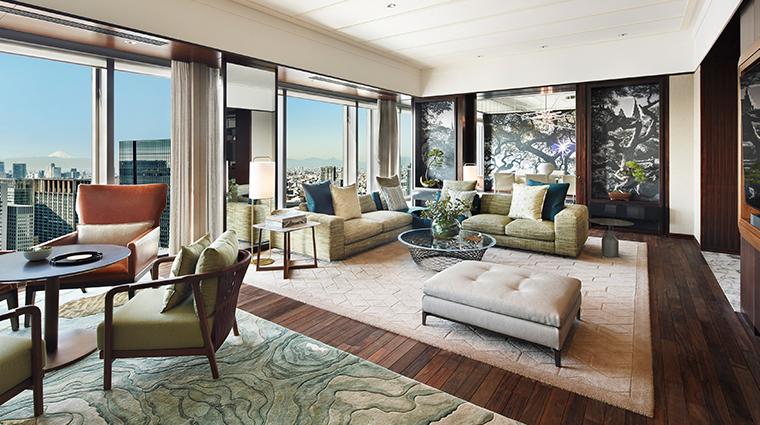 mandarin oriental tokyo presidential suite living room
