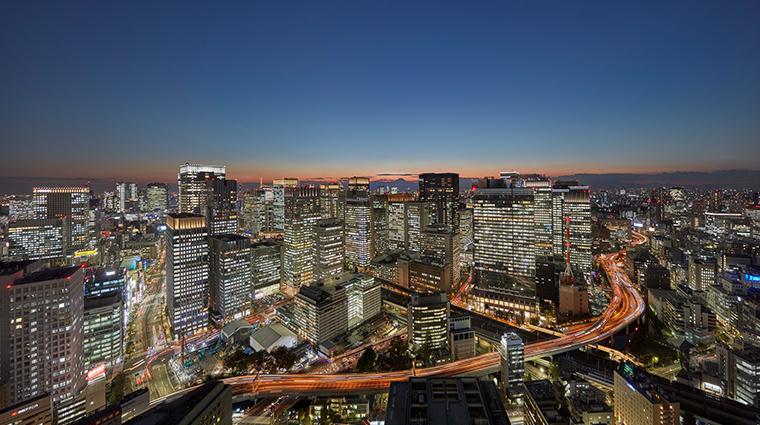mandarin oriental tokyo view from hotel