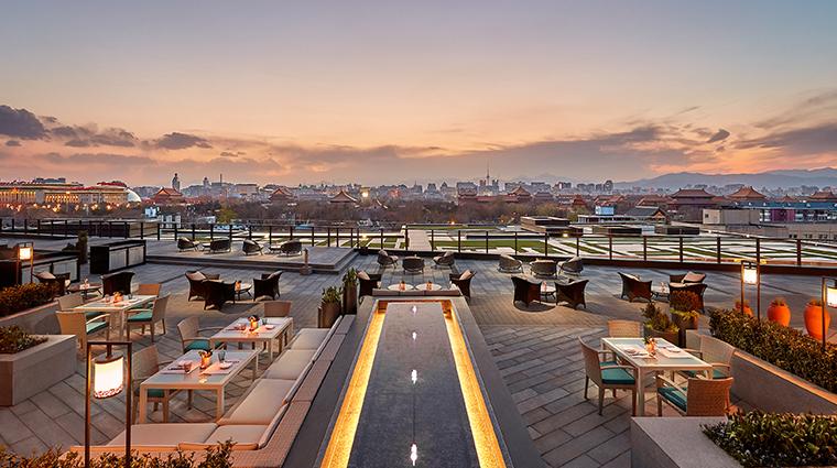 mandarin oriental wangfujing beijing terrace views dusk