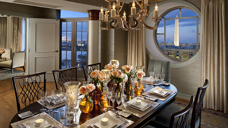 mandarin oriental washington dc presidential suite dining room