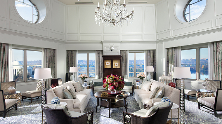 mandarin oriental washington dc presidential suite living room