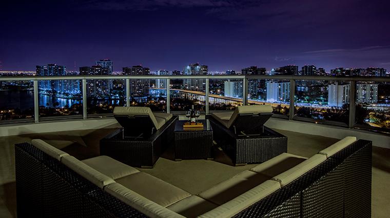marenas beach resort penthouse balcony night