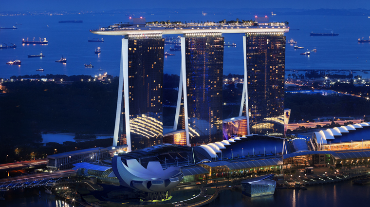 marina bay sands exterior