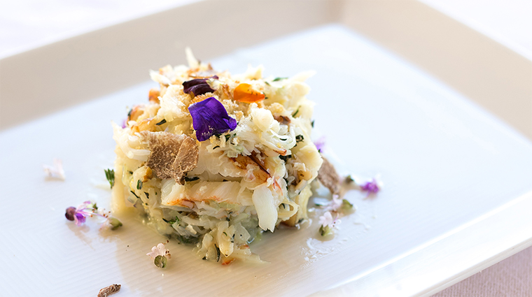 marsel restaurant dungeness crab and brioche cake