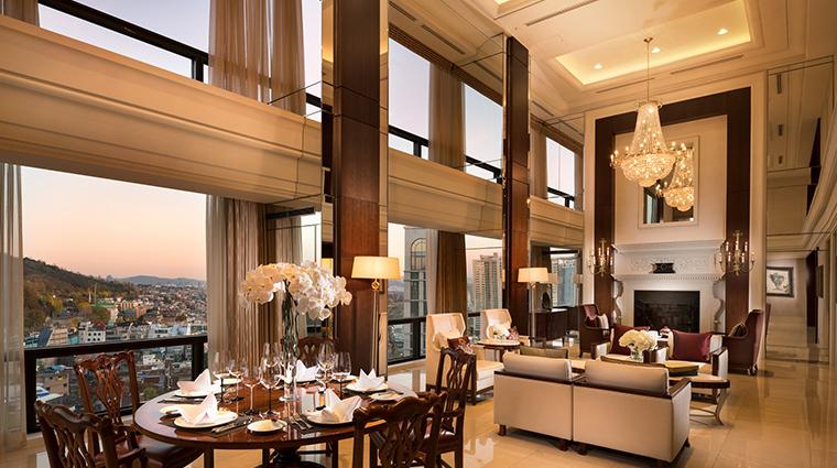 millennium hilton seoul Namdaemun Suite Living Room