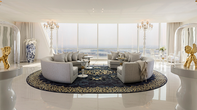 mondrian doha penthouse living room