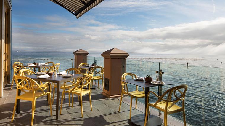 monterey plaza hotel spa Schooners terrace dining view