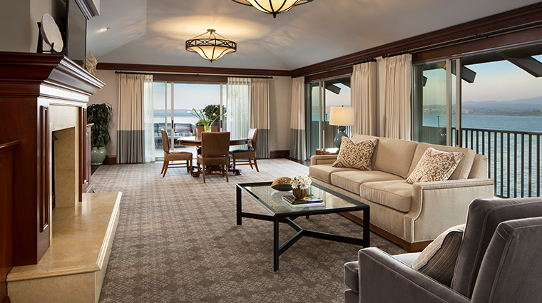 monterey plaza hotel spa presidential suite living room