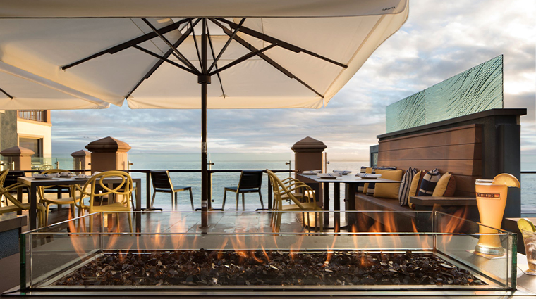 monterey plaza hotel spa terrace dining view heater