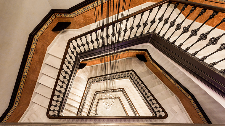 monument hotel stairs