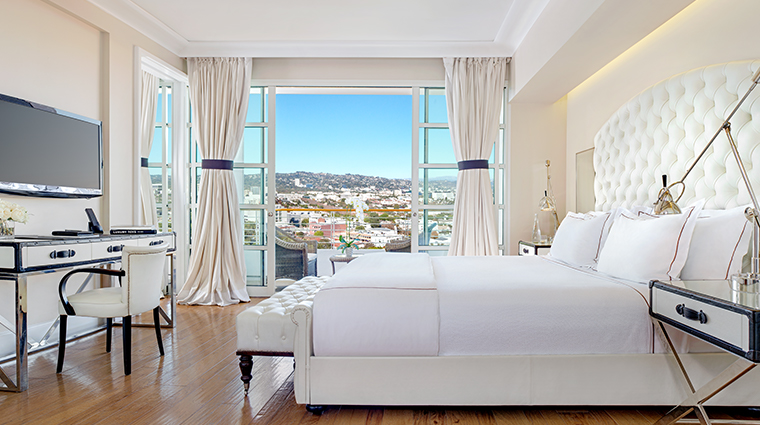 mr c beverly hills suite bedroom view