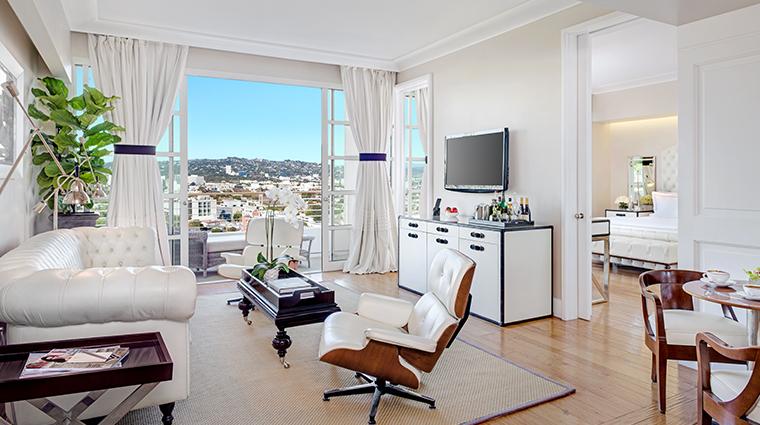 mr c beverly hills suite living room