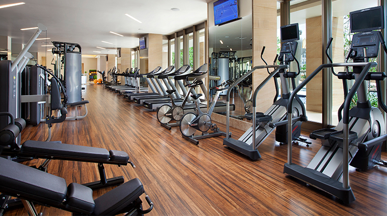 mulia villas nusa dua bali fitness center
