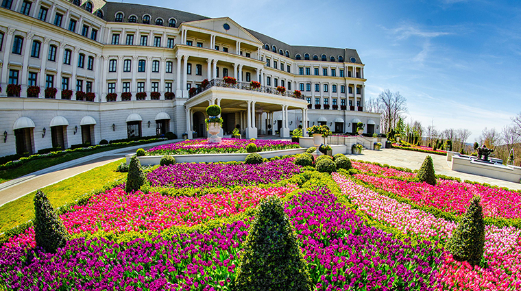 nemacolin woodlands resort chateau lafayette facade