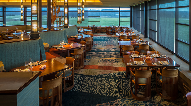 nemacolin woodlands resort falling rock Aqueous dining room