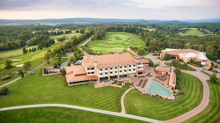 nemacolin woodlands resort falling rock aerial