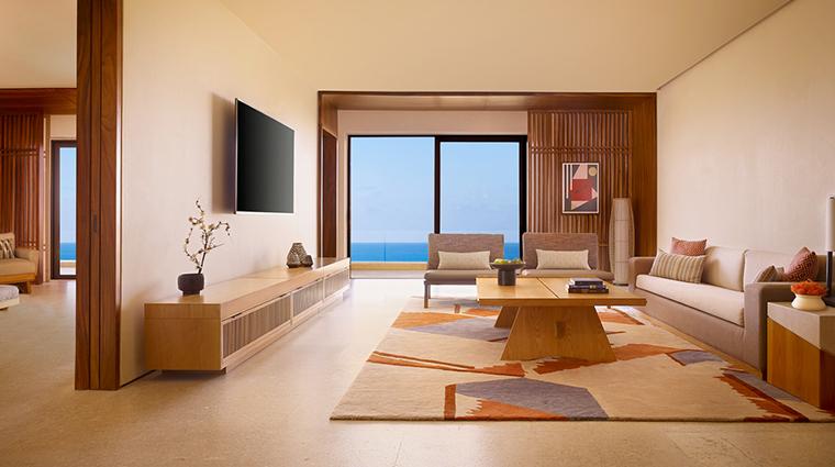 nobu hotel los cabos Miyabi Suite Living Room2