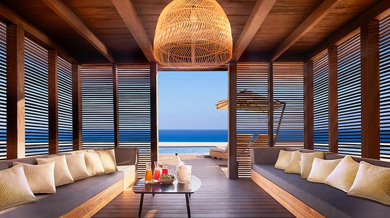nobu hotel los cabos sunset pool cabana