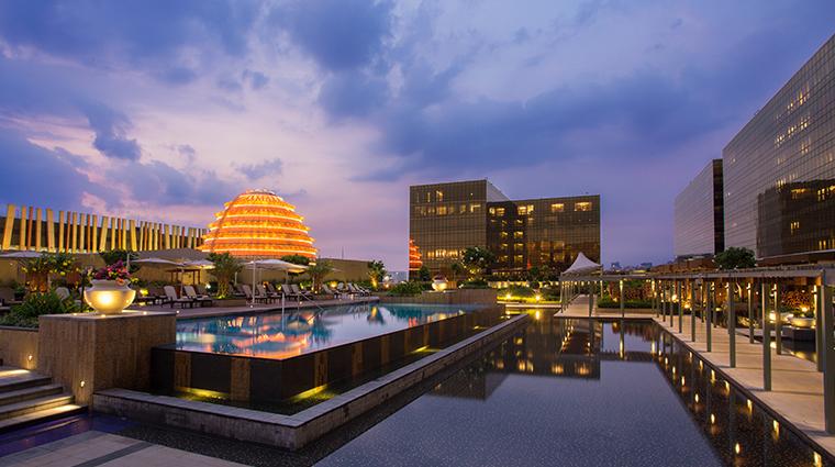 nobu hotel manila pool night