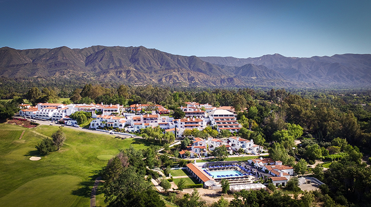 ojai valley inn spa resort aerial