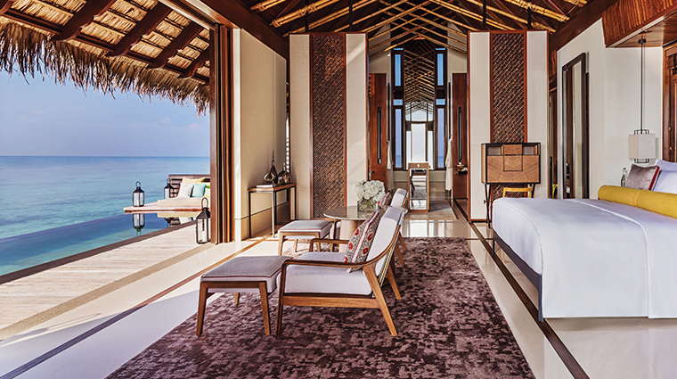 oneonly reethi rah watervilla bedroom