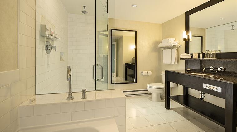 opus hotel vancouver balcony studio bathroom