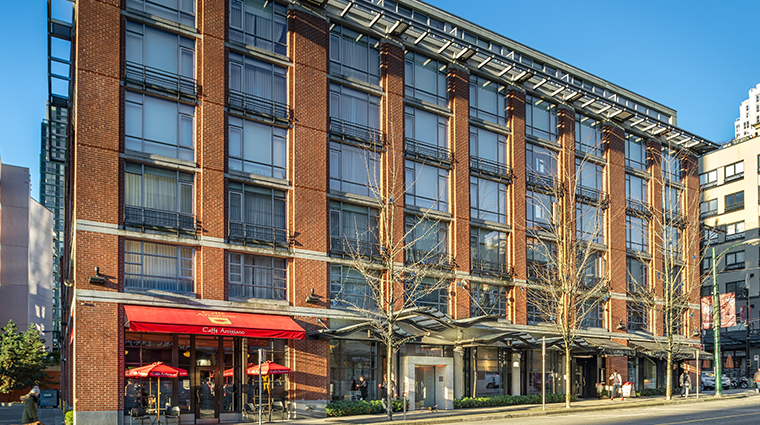 opus hotel vancouver exterior